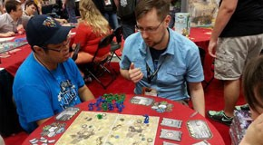 Galaxy Defenders demo at Gen Con 2014