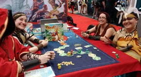 Dino Race demo at Gen Con 2015