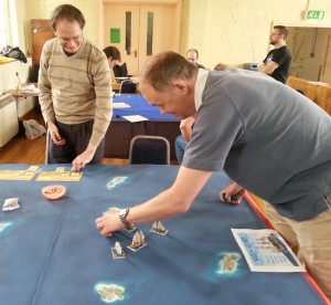 Sails of Glory game at  Naval Wargames Show.