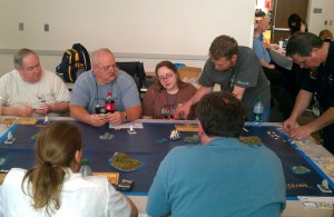 People playing Sails of Glory at Origins 2013