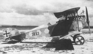 An Aviatik D.I with a colored fuselage.