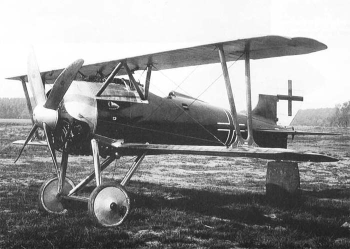 A Siemens-Shuckert D.III waiting on a flying field.