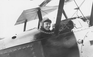 The Canadian ace Raymond Collishaw, aboard of a Black Flight's Sopwith Triplane