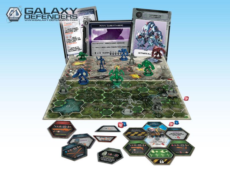 Starbuck Battlestar Galactica >> GRPR001 – Galaxy Defenders – Starter Set « Ares Games