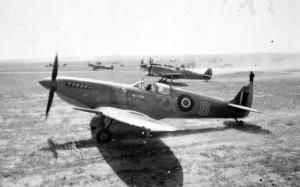 The Spitfire Mk IXc EN315, flown by Stanislaw Skalski  at No.145 Squadron.