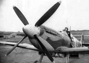 The British fighter Spitfire Mk.IX.