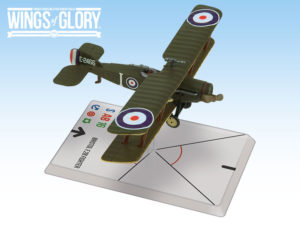 The miniature of the Bristol F.2B Fighter used by Harvey and Waight.