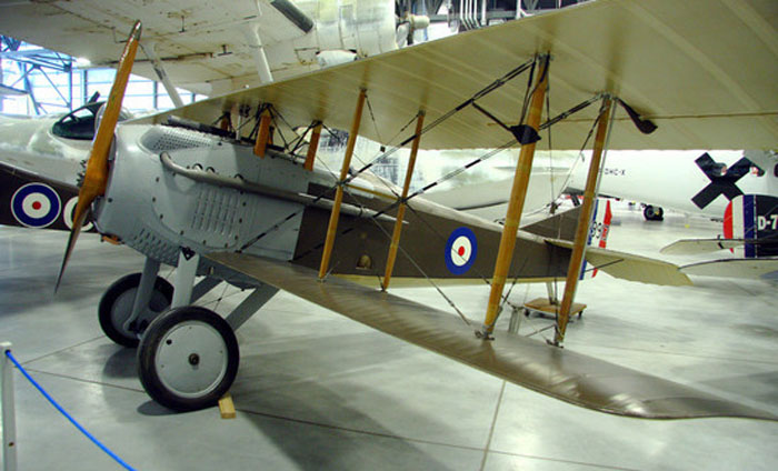 A well-preserved SPAD S.VII.