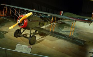 SPAD VII at the National Museum of the United States Air Force. (U.S. Air Force photo)