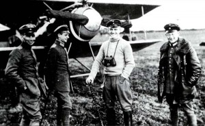Some famous members of the Jasta 2: Stefan Kirmaier, Hans Imelmann, Manfred von-Richthofen, and Hans-Wortmann.