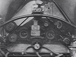 The instrument panel of the Bristol F2.B.