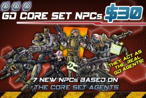GD Core Set NPCs option allows to use the agents  from the Core Set as NPCs.