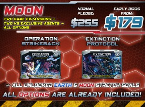 All the rewards of the Earth level, plus  all the Options (Red) and Red and Blue stretch goals.