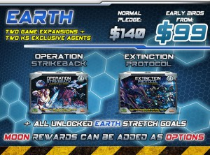 Earth level: new Expansions and the KS Exclusive figures as rewards.