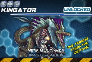 The Master Alien Kingator, one of the Stretch Goals already unlocked.