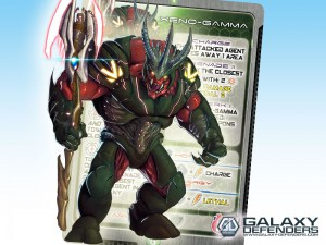 Xeno-Gamma, a race of warriors with energy battle axes that can cut through anything.