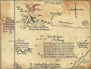 The map of The Hobbit