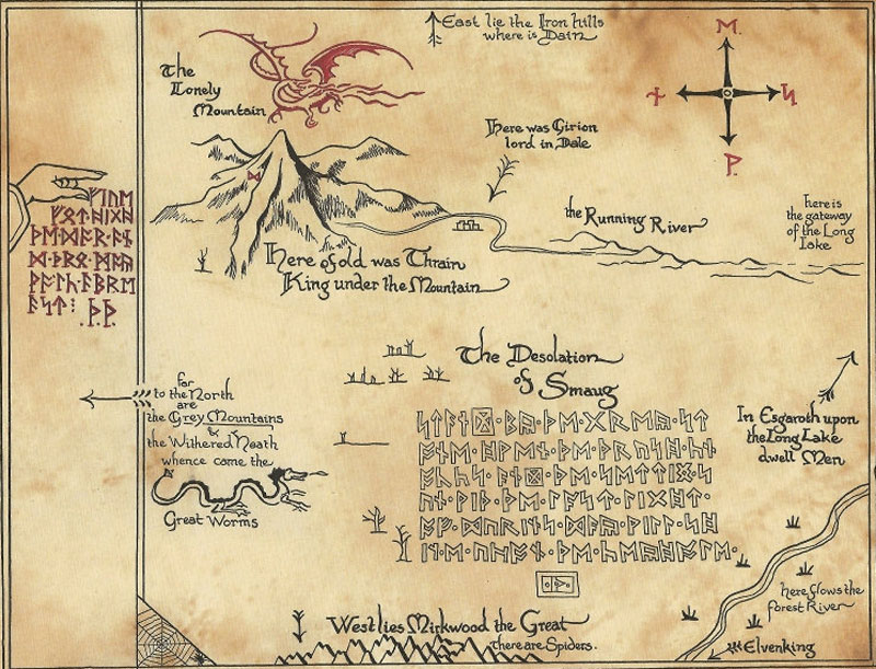 thrors map from the hobbit