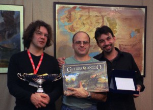 The War of the Ring design team in 2004, when the first edition of the game was published.