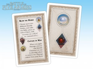Event cards allow introduction of a wide range of events from the books.