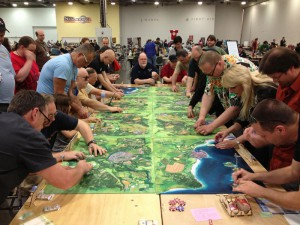 A big Wings of Glory game at Origins 2013.