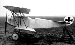 The experimental biplane V 11, prototype of the Fokker D.VII.