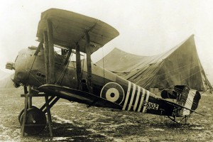 The Sopwith Snipe piloted by Barker after the action of 27 October 1918.