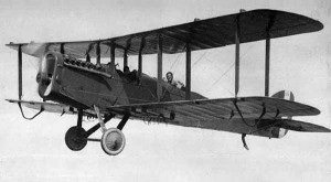 An Airco DH.4 in flight.