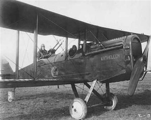 An Airco DH.4 operated by the 55th Squadron.