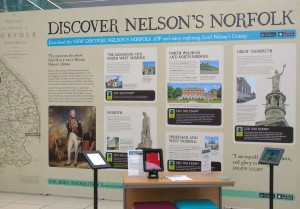 A panel of Nelson's Norfolk exhibition.