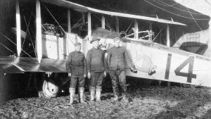 An Airco DH.4 painted with the Dutch Girl insignia of the 50th Aero Squadron.