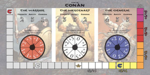 Preview of the Conan Reference Board that handles the growth of Conan as a hero.