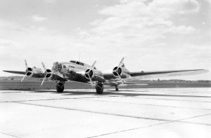 The Flying Fortress' prototype XB-17 - Model 299  (U.S. Air Force photo).
