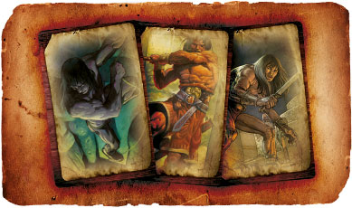 "Conan Chronicles, a set of cards to represent the various ""career changes"" of Conan."