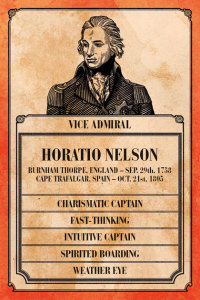 Horatio Nelson's Captain Card.