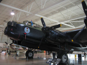 One of the two airworthy Lancaster preserved, on display at the Canadian Warplane Heritage Museum (CWHM).