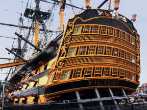 HMS Victory today: the Flagship of the First Sea Lord and a living museum ship.