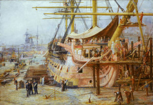 Restoring HMS Victory, by William Lionel Wyllie (1925).