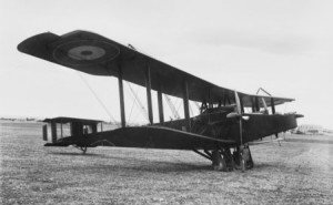 The Handley-Page 0/400 used by the Australian Flying Corps.