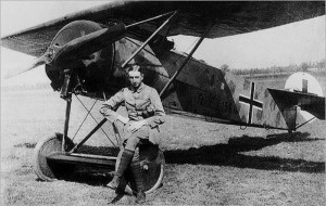 Theo Osterkamp and his Fokker E.V.