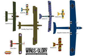 """Social"" stretch goal: poster with all WW1 Wings of Glory airplanes."