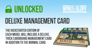 New stretch goal unlocked: a cardboard management card.