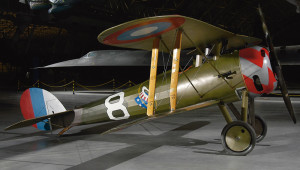 Nieuport 28 on dispiay at the Smithsonian National Air and Space Museum.