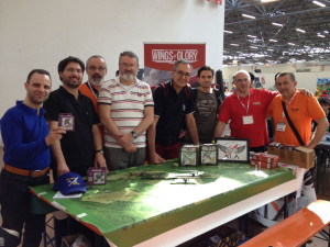 Players after the WW2 battle on the first day of Carrara Show.