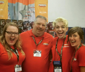 The cheerful Ares team at Origins.