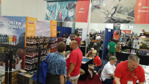 A view of Ares' booth at Origins 2015.