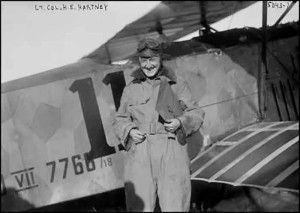 Hartney in front of a captured Fokker D.VII.