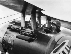 Rickenbacker on board his aircraft.