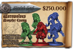 Werewolves, to be unlocked at $230,000 pledged.