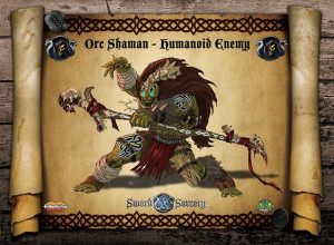 "Masters of magic, Orc Shamans are the ""buffers"" of Orc warriors in battle."